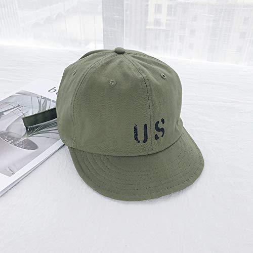 geiqianjiumai Gorra de béisbol Femenina Casual Gorra Verde impresión de Letras Color sólido sombrilla Sombrero Gorra Masculina Ajustable Verde Militar Ajustable