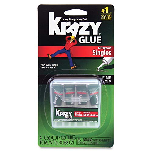 Krazy Glue Instant All Purpose Single Use Tubes 4 ea