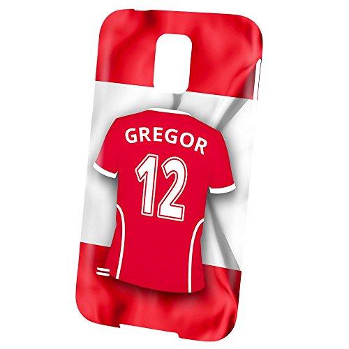 PhotoFancy Samsung Galaxy S5 Handyhülle Premium – Personalisierte Hülle mit Namen Gregor – Case mit Design Fußball-Trikot Österreich zur WM in Russland 2018