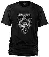 Wolkenbruch - Camiseta de bandana con calavera (talla M-XXXXXL)