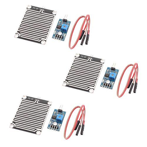 ARCELI 3 pz LM393 Sensore di Umidità Sensore di Umidità Sensore di Gocce Sensore di Pioggia Modulo Piastra Nichelata 3.3-5 V per Arduino