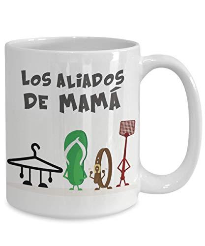 Taza de café de Mug-Los aliados de mama taza de caf騦 mamá aliados español taza de café divertido regalo para mamá, 312 ml taza de café