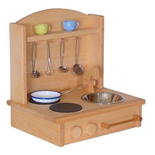 Kinderherd Zwerg 2012G Massivholz - Kinder-Tischküche - Spielständer-Küche … - 3