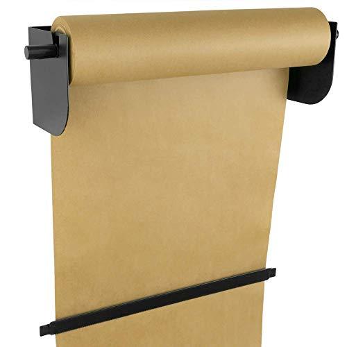 PrimeMatik - Wand Rolle Halter für Papier Rollen. Spender für Packpapier in Rollen bis 46cm 18