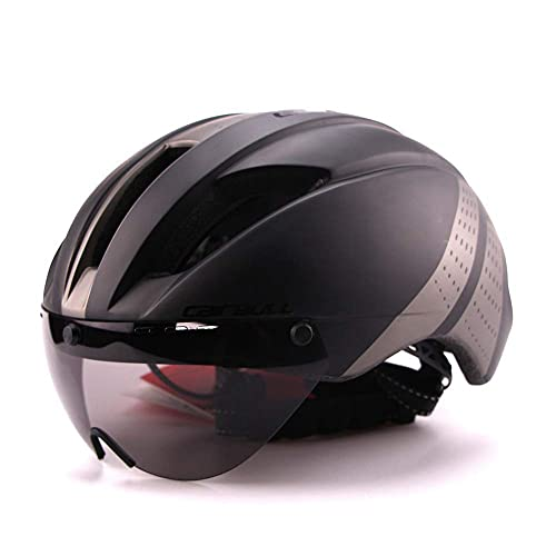 Casco de Ciclismo, Carreras de Bicicleta de Carretera Aerodinámica Casco Neumático, Casco de Ciclismo de Montaña Ligero, Seguridad para la Cabeza, A