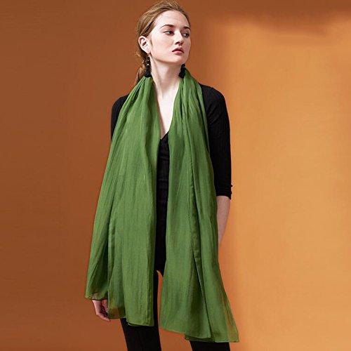 YQQ-écharpe Femme Longue Section 100% Pure Soie Quatre Saisons Châle 70 * 200cm (Couleur : D)