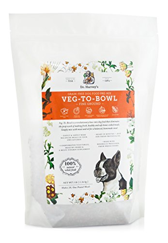 Dr. Harvey's Veg-to-Bowl Fine Ground Dog Food, Human Grade Dehydrated Base Mix for Dogs, Grain Free Holistic Mix for Small Dogs (3 Pounds)