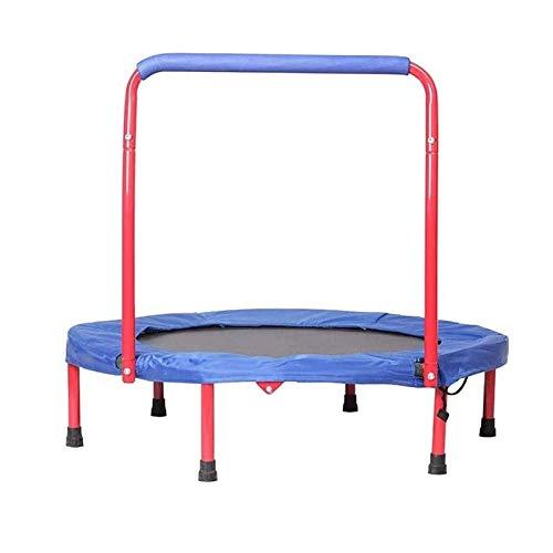 Lamyanran Trampolin Brincolin para Niños y Adultos Hogar Interior y al Aire Libre Trampolín para niños con reposabrazos Equipos de pérdida de Peso General Fitness para Adultos y niños Regalo