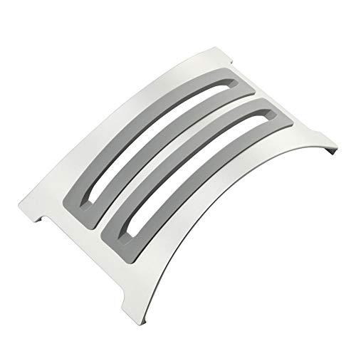 KKDWJ Ordenador portátil Soporte Vertical, de Aluminio Desmontable Titular portátil, con 2 Inserciones de Silicona Suave de reemplazo, diseño Antideslizante, Apto para Todos los portátiles,Blanco