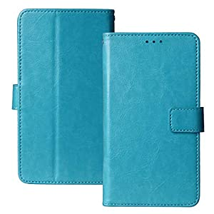 Lankashi Book Stand Premium Retro Business Flip Leather Protector TPU Silicone Case For Nokia 105 (2019) Cover Etui Wallet (Blue)