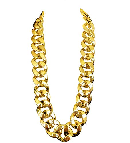 Big Chunky Chain Necklace 32',36' (Gold, 36)