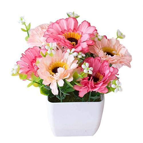 ZYSTMCQZ Blume Topfpflanze Lebensleine Gypsophila Holztopf Bonsai Hausgarten Ornamente Dekoration (Color : Pink)