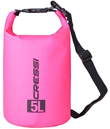 Cressi Unisex-Erwachsene Dry Bag-wasserdichte Taschen mit langem verstellbaren Schulterriemen Für Tauchen, Bootfahren, Kajak, Angeln, Rafting, Schwimmen, Camping und Snowboarden, Rosa, 10 LT