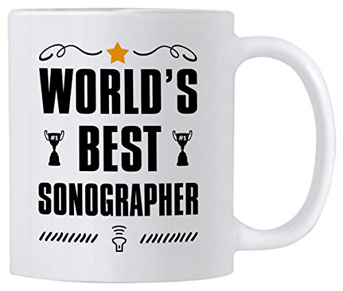 Sonography Gifts. 11 Ounce World's Best Sonographer Mug. Gift Idea for Ultrasound Tech Friend or...