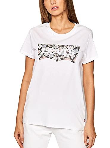 Levi's 173691635_S Camiseta, White, Mujeres