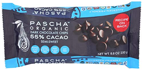 Pascha Chocolate Baking Chip 55% Caca, 8.8 oz