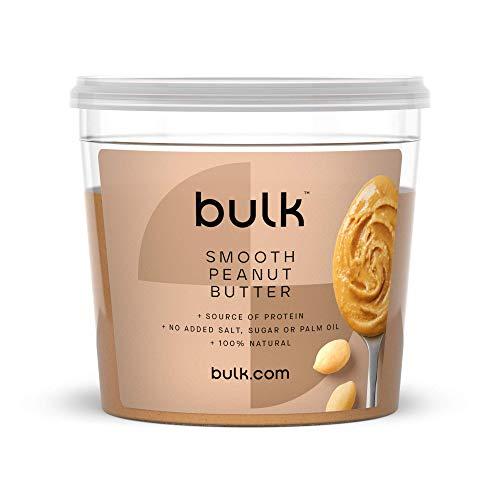 BULK POWDERS Natural Roasted Peanut Butter Tub, Smooth, 1 kg