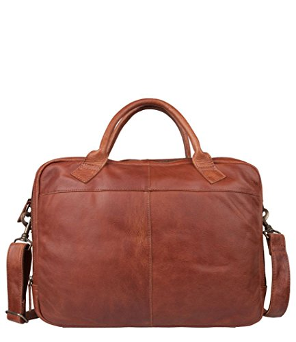 COWBOYSBAG tas laptoptas aktentas LAPTOP BAG GRAHAM 17 INCH Cognac 1955