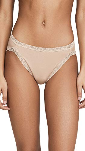 Natori Women's Bliss Cotton French Cut Panty, Café, Large