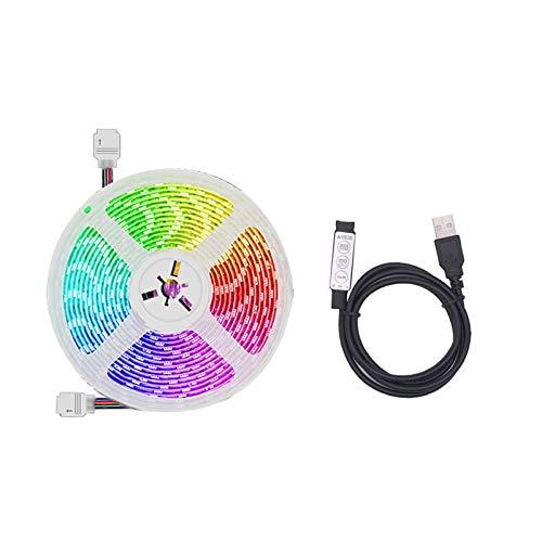 Rubans à LED - Les Lumières de Bande de LED Se Synchronisent à la Musique La Bande Flexible de Lumières de Bande LED de l'USB 5055 RVB LED pour Maison Cuisine Mariage Soirée