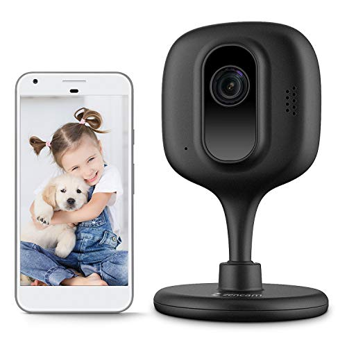 Zencam 720P WiFi Camera, Indoor Wireless Security Camera IP, Two-Way Talk, IR Night Vision for Home, Office, Baby Monitor, Pet Cam with MicroSD & Cloud Storage, Black (E1B)