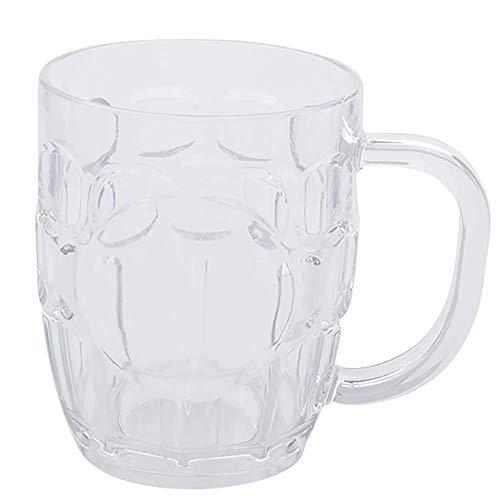 HAOAYOU Jarra Cerveza 10 Pack Jarra de Cerveza de plástico 240ml Tazas de Agua Clara Vajilla Vajilla, Apto para lavavajillas 240ml Transparente