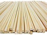 ARCOBALENOPARTY 50 Bastoncini in Legno per Zucchero Filato 40 cm
