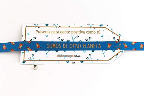 Pulseras de tela con frases molonas: SOMOS DE OTRO PLANETA | Presume y punto | Regalo original