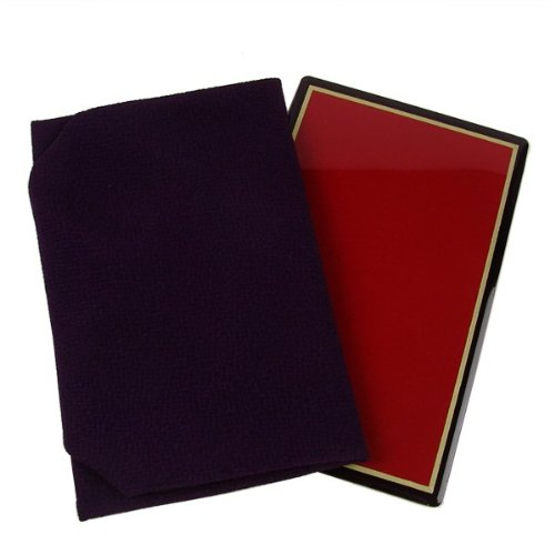 [楽市きもの館] 正絹 ちりめん台付袱紗 ふくさ 紫