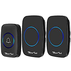 Whizzotech Wireless Doorbell Waterproof Battery Operated Door Bell