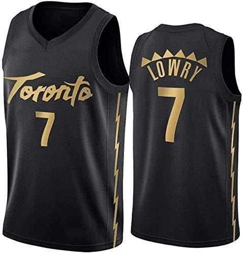 WLJ # 7 Kyle Lowry Pullover di Pallacanestro NBA Toronto Raptors Casual Allenamento Fitness Sudore Respirabile Concorso Jersey Canotte per La Mens Ragazzi Bambini Fans XS-2XL Black-XS