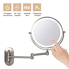 ▶ HALF-HOUR INTELLIGENT SHUTDOWN SYSTEM SAVES ENERGY: The upgrade wall mounted mirror has a half-hour smart power-off system to save energy when you forget to turn off the light.Led lights on/off controlled by the touch sensor switch.Contribute to ou...