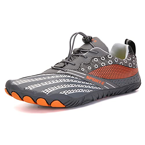 Sebasty Outdoor Radschuhe,Indoor-Heimtrainer Schuhe,Bewegung Wilderness Hike Bergsteigerschuh,Strandschuhe Amphibische Watschuhe,Grey-45