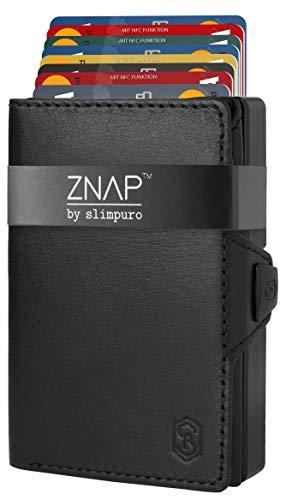 ZNAP クレジットカードケース 財布 メンズ RFID保護 スキミング防止 薄型 ミニマリスト アルミ製 小銭入れ ...