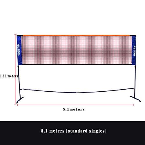 ljh1024 Badminton-Netz, Multifunktionsnetz 3 in 1 Höhenverstellbar Einfache Einrichtung & Tragbares Faltbares Park- und Strandballspiele - Tennis Volleyball Badminton
