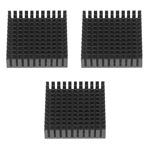 3X Kühlkörper Stepperdämpfer aus Aluminium 3-teiliger 3D-Drucker Stoßdämpfer Schwingungsdämpfer Kühlkörper Kompatibel mit Nema 17 42 Schrittmotor CNC