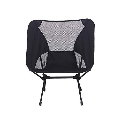 ZHANGJN Chaise de Camping Pliante pour extérieur, pêche, Festival, Plage, randonnée, Alliage, Noir, Size 0.00watts