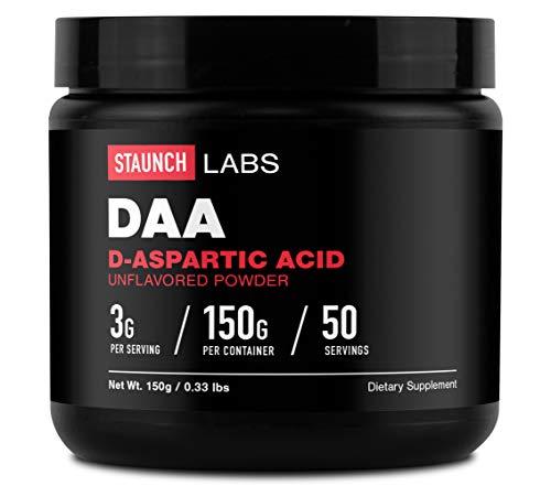 Staunch D-Aspartic Acid Powder 150 Grams, 50 Servings, DAA Supplement