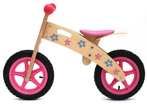 Bicicleta de madera para niña