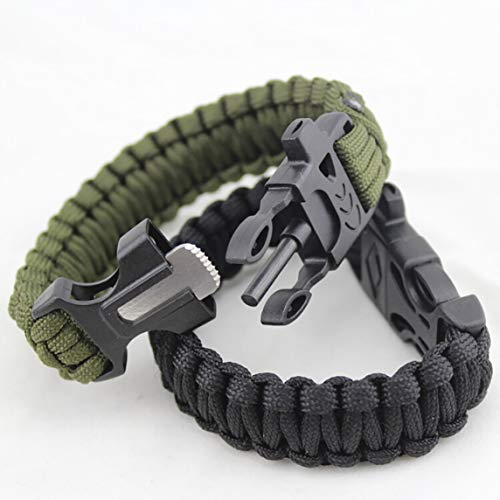 fgdjfhsdfgsdfh Outdoor Umbrella Armband Emergency Survival Bracelet Rettungsschirm mit Flintstone Whistle Flint Umbrella Bracelet