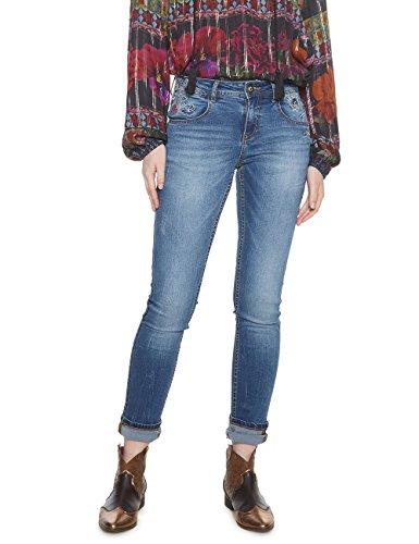 Desigual Denim_refriposas Pantalones Vaqueros Delgados para Mujer