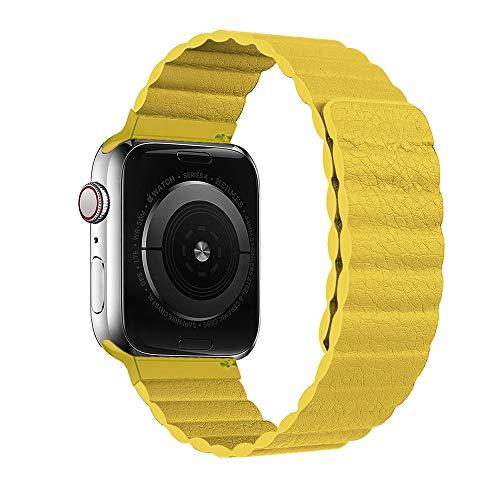 HONGKAN Compatibile con Cinturino in Pelle Apple Watch 38/40/42/44 mm, Cinturino Regolabile di aggiornamento con Forte Chiusura Magnetica Compatibile per iWatch Series 6/5/4/3/2/1/SE