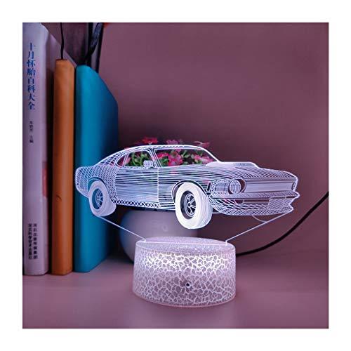 WLN 3D Magic Light Jeep LED Phantom Light USB Luz Deslizante Luz Nocturna, Iluminación Luz para Niños 16 Botón Táctil Que Cambia De Color Cable USB Lámpara De Mesa Decorativa