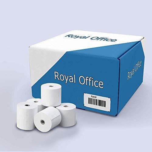 RoyalOffice Rotoli Termici 57x30 mt per Registratori di Cassa POS Bancomat Carta Termica 55gr (10)