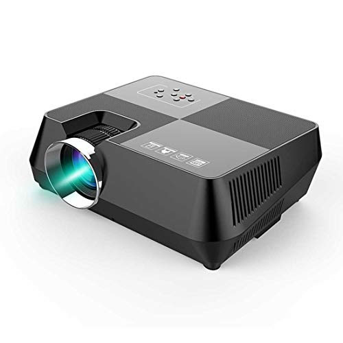 Projectors GT-S8A 60W 4.0 inch LCD Multimedia Video Projector Home Theater with Remote Controller, Built-in Speaker, Support HDMI, Micro SD, AV, VGA, USB, Connect with Smartphone / iPhone / iPad(Black