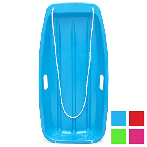 Best Choice Products 35in Kids Plastic Toboggan Snow Sled w/Pull Rope, 2...