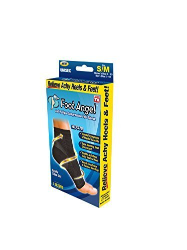 Foot Angel Anti-Fatigue Compression Foot Sleeve for Plantar Fasciitis Relief, Small/Medium