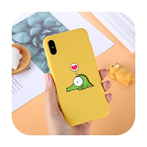 Phonecase - Carcasa para iPhone 7 6 6S 8 X Plus 5 5S SE XR Xs Max Simple Color Sólido Ultra Delgado Suave TPU Carcasa para iPhone 11 Pro Max