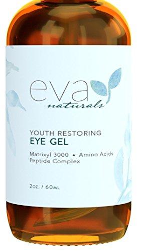 Gel de Ojos -La Mejor Crema Reafirmante de Tratamiento de Ojos para Ojeras, Ojos Hinchados, Patas de Gallo, Eva Naturals (60 ml)