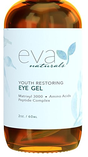 Eye Gel - Larger Size 2 oz Bottle - Best Firming Eye Cream Treatment for Dark Circles, Puffy Eyes, Crow's Feet, Fine Lines & Under Eye Wrinkles by Eva Naturals